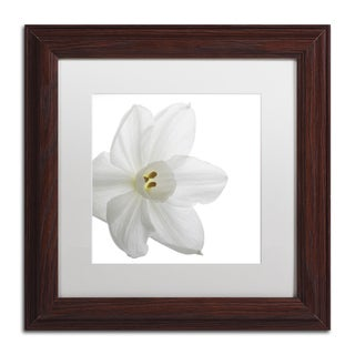 Kurt Shaffer 'Paper White' White Matte, Black Framed Wall Art