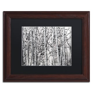 Roderick Stevens 'Winter Aspens' d Wall Art