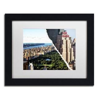Philippe Hugonnard 'Central Park View' White Matte, Wood Framed Wall Art
