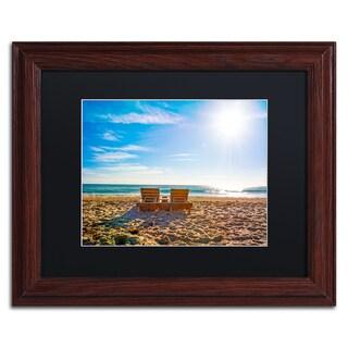 Preston 'Florida Beach Chair' Black Matte, Wood Framed Wall Art