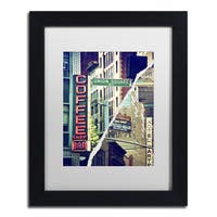 Philippe Hugonnard 'New York Atmosphere' White Matte, Black Framed Wall Art