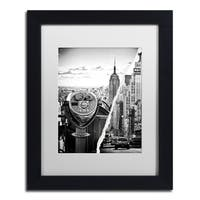 Philippe Hugonnard 'Looking to New York City' White Matte, Black Framed Wall Art