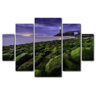 Mathieu Rivrin 'Full Moon in Brittany' Canvas Wall Art