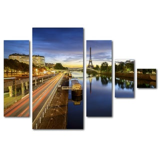 Mathieu Rivrin 'Blue Hour in Paris' Canvas Wall Art