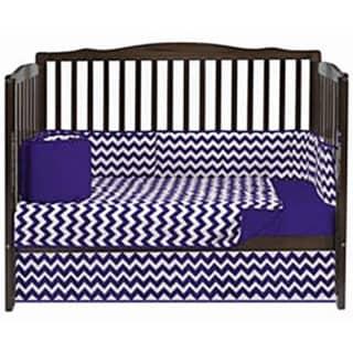 BabyDoll Chevron Crib Dust Ruffle Grey