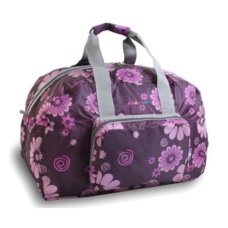 J World Purple Flower Buena Foldable 19-inch Carry-on Duffel Bag
