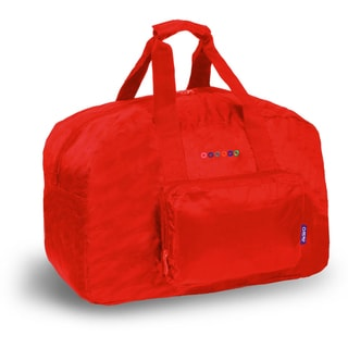 J World Red Buena Foldable 19-inch Carry-on Duffel Bag