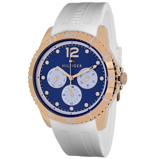 Tommy Hilfiger Women's 1781582 Tessa Round White Silicone Strap Watch