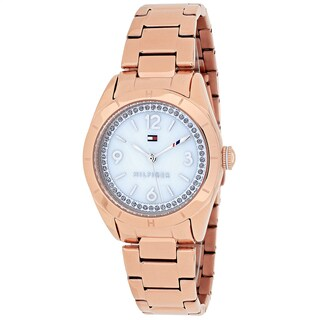 Tommy Hilfiger Women's 1781553 Hadley Round Rose Gold-tone Stainless Steel Bracelet Watch