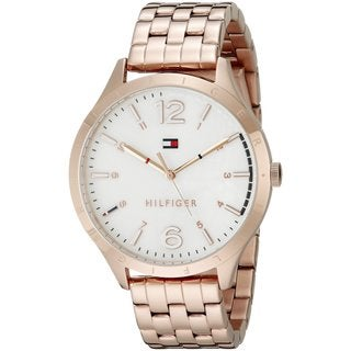 Tommy Hilfiger Women's 1781548 Casual Sport Round Rose Gold-tone Stainless Steel Bracelet Watch