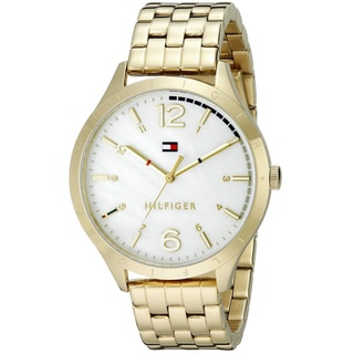 Tommy Hilfiger Women's 1781545 Casual Sport Round Goldtone Stainless Steel Bracelet Watch