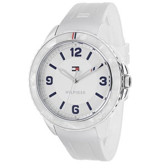 Tommy Hilfiger Women's 1781541 Everyday Sport Round White Silicone Strap Watch