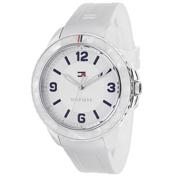 745cc1af Shop Tommy Hilfiger Women's 1781541 Everyday Sport Round White Silicone Strap  Watch - Free Shipping Today - Overstock - 10509051