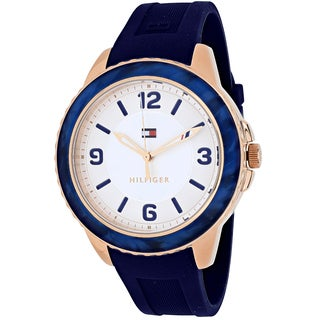 Tommy Hilfiger Women's 1781539 Everyday Sport Round Blue Silicone Strap Watch