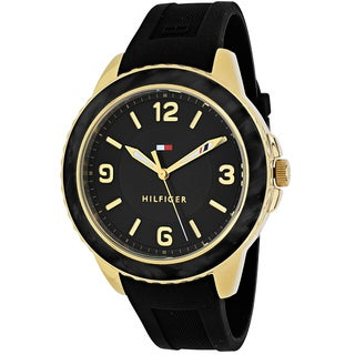 Tommy Hilfiger Women's 1781538 Everyday Sport Round Black Silicone Strap Watch