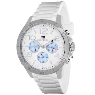 Tommy Hilfiger Women's 1781529 Sport Round White Silicone Strap Watch