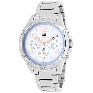 Tommy Hilfiger Women's 1781526 Sport Round Silvertone Stainless Steel Bracelet Watch