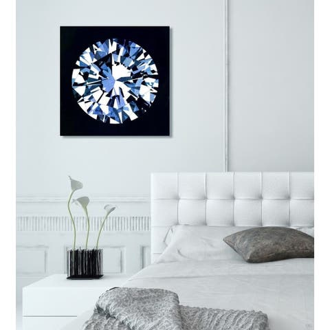 Oliver Gal 'Diamonds Are Forever' Fashion and Glam Wall Art Canvas Print - Black, Blue