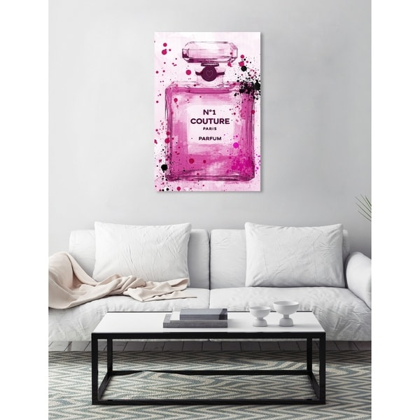 Runway Avenue 'Couture Parfum Pink' Fashion and Glam Perfumes Canvas Art - Pink