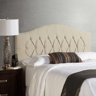 Humble + Haute Halifax King Size Ivory Arched Upholstered Headboard