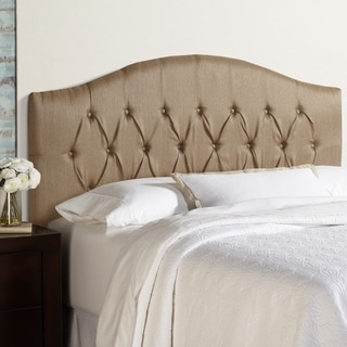 Humble + Haute Halifax King Size Brown Arched Upholstered Headboard