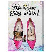 Runway Avenue 'Buy The Shoes' Canvas Art