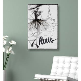 Oliver Gal 'Fashion Doll Paris' Fashion and Glam Wall Art Canvas Print - Black, White