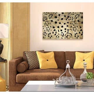 Oliver Gal 'Cheetah Cheetah' Abstract Wall Art Canvas Print - Gold, Black