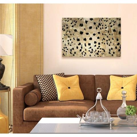 Oliver Gal 'Cheetah Cheetah' Abstract Wall Art Canvas Print - Gold, Black