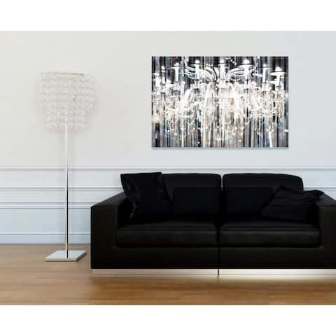 Oliver Gal 'Diamond Shower' Fashion and Glam Wall Art Canvas Print - Black, White