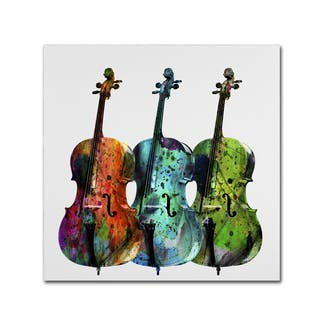 Mark Ashkenazi 'Cello' Canvas Wall Art|https://ak1.ostkcdn.com/images/products/10509380/P17589010.jpg?impolicy=medium