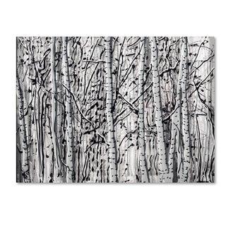 Roderick Stevens 'Winter Aspens' Canvas Wall Art