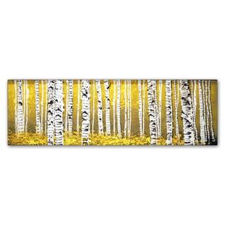 Roderick Stevens 'PanorAspens Yellow Floor' Canvas Wall Art