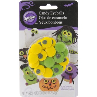 Candy Decorations 24/PkgGreen & Yellow Eyeballs