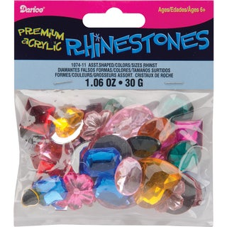 Rhinestone Shapes 30gAssorted Multi
