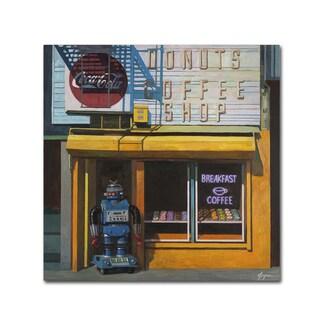 Eric Joyner 'Blue Zeroid' Canvas Wall Art