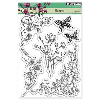 Penny Black Clear Stamps 5inX6.5in SheetFlorets