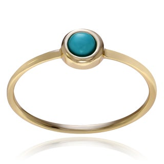 Journee Collection Sterling Silver Turquoise Circle Ring