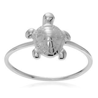 Journee Collection Sterling Silver Turtle Ring