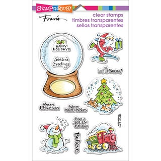 Stampendous Perfectly Clear Christmas Stamps 4inX6in SheetChristmas Visions