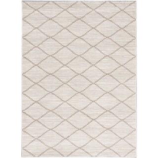 Ecarpetgallery Noto Beige Cream Diamond Rug (5'3 x 7'3)