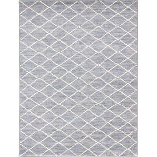 Ecarpetgallery Noto Cream Grey Diamond Rug (7'10 x 10'2)