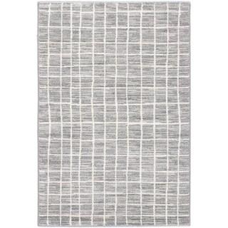 Ecarpetgallery Noto Cream Dark Grey Grey Patterned Rug (5'3 x 7'3)