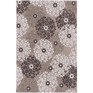 Ecarpetgallery Portico Dark Khaki Ivory Floral Rug (4' x 6')