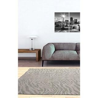 Ecarpetgallery Portico Beige Grey Animal Print Rug (4' x 6')