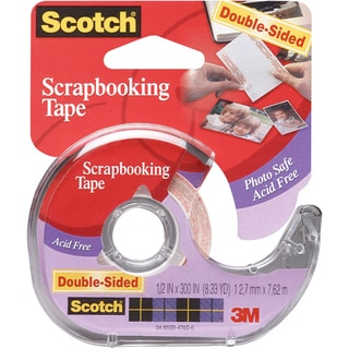 Scotch Scrapbooking Tape DoubleSided.5inX300in
