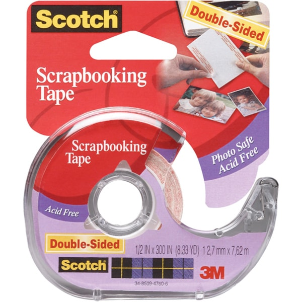 Scotch Scrapbooking Tape DoubleSided.5inX300in. Opens flyout.