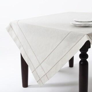 Drawn Work Design 72-inch Tablecloth