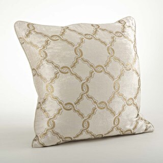 Velvet Chain Link 20-inch Throw Pillow