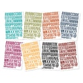Sn@p! Bolds Color Vibe Stickers 4inX6in Sheets 8/PkgLetters